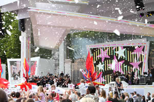 Confetti Effects for the Olympic handover